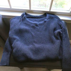Navy blue waffle sweater from American eagle